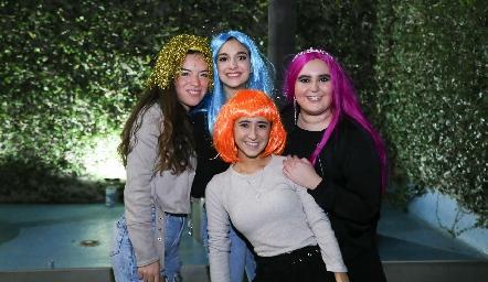 Galilea Cárdenas, Marijó Duque, Martita Payán y Kaori.