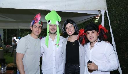 Juan Carlos Castillo, Pablo Labastida, Caro Medina y Humberto Sáenz.