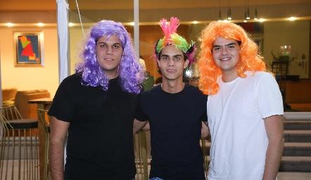 Manuel Ascanio, Diego Medina y Kevin Hervert.