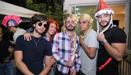 Luis Diego Reverte, Paulina Sánchez, Nacho Maqueo, Mauricio y Ramón Pedroza.