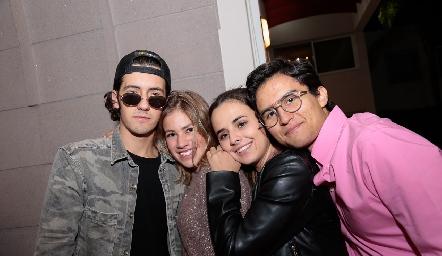 Mauricio Cohen, Sofía Gaytán, Paulina Valle y Andrés Bravo.