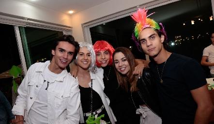 Jaime Ruiz, María Meade, Mariana Anaya, Ale Michael y Diego Medina.