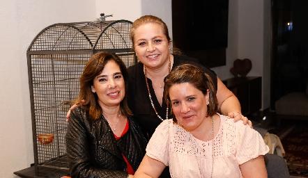Beatriz Canseco, Güera Gutiérrez y Mariana Millán.