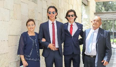 Paloma Velázquez, Mateo Rodríguez, Santiago Rodríguez y Francisco Javier Sánchez.
