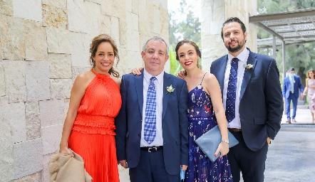 Ana Luisa Acosta, Pedro Torres, Fernanda Torres y Fernando Dibildox.