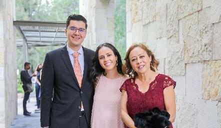 Daniel Chávez, Isabel Jasso y Gloria Acosta.