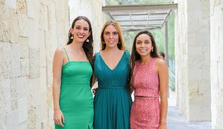 Ana Pau Fernández, Ximena Vázquez y Marilú Díaz de León.
