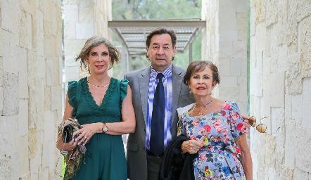Cova Pérez, Alejandro Álvarez y María Teresa Martín.