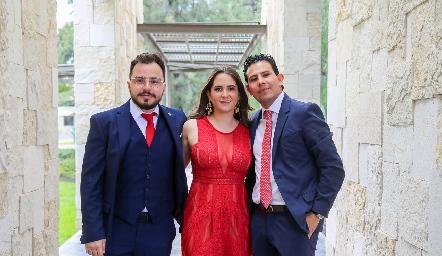 Francisco Cadena, María José Ocejo y Juan Manuel Liñán.