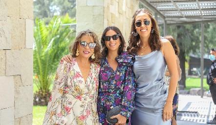 Alicia de Alba, Alejandra Díaz e Ireri Maciel.