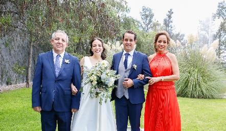 Pedro Torres, Sofía Torres, Alejandro Sánchez Velázquez y Ana Luisa Acosta.