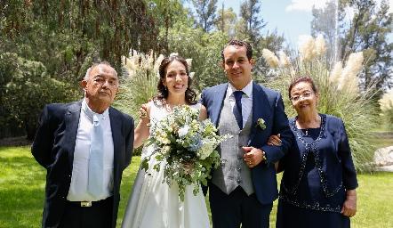 Francisco Javier Sánchez, Sofía Torres, Alejandro Sanvela y Paloma Velázquez.
