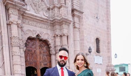 Franky Gutiérrez y Marifer Ramírez.