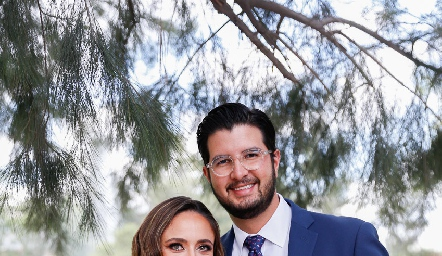 Ana Gabriela Díaz Infante y José Ramón Benavente.