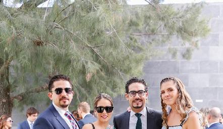 Manuel Mora, Cristina Kasis, Victorio Ortiz y Ana Sofía Solana.