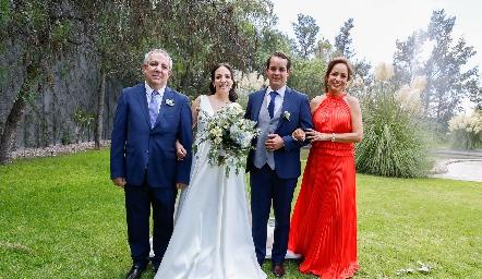 Pedro Torres, Sofía Torres, Alejandro Sanvela y Ana Luisa Acosta.
