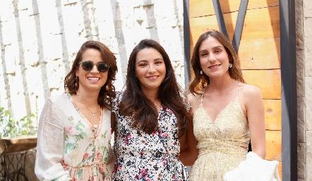 Marijó Díaz, Yusa de la Rosa y Sofía Villaseñor.