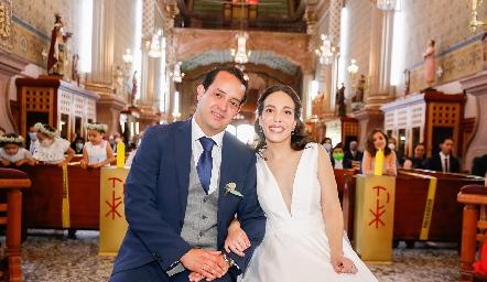 Alejandro Sanvela y Sofía Torres ya son esposos.
