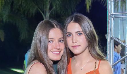 Anna Astrid Delgado y Alexa Pizzuto.