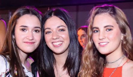 Sofía Garza, Geraldine Perales y Camila de la Garza.
