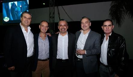 Salomón Dip, Héctor Navarro, Mauricio Castaneda, David del Bosque y Eduardo Zendejas.