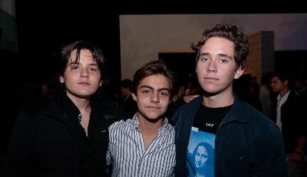 Patricio Ordiosola, Manuel Díaz Infante y Jacobo Payán.