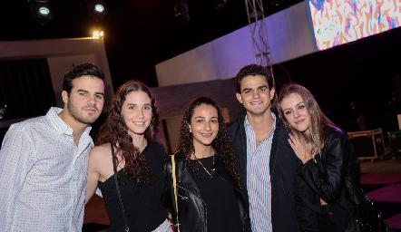 Jero Gómez, Lucía Hernández, Ana Villalba, Aldo Pizzuto y Pau Mebius .