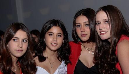 Alexa Pizzuto, María Navarro, Yamilé Díaz y Kamila Dip.