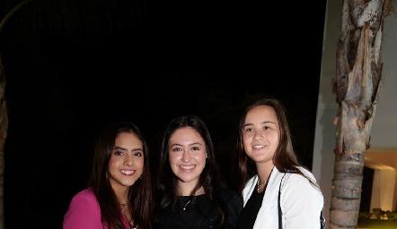 Regina Zárate, Alejandra Calderón y Bety Allende.