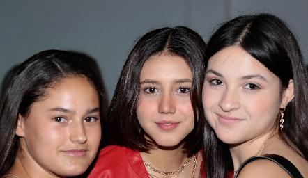 Macarena Fernández, Yamilé Díaz y Victoria Rendón.