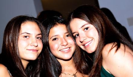 Luciana Urías, Ana Pau Castañeda y Anna Astrid Delgado.