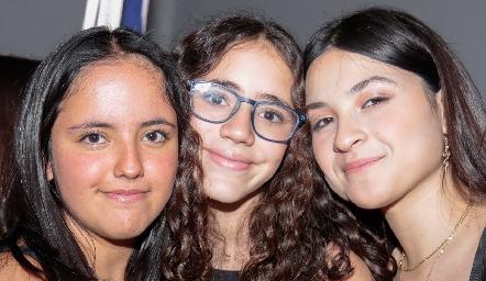 Fátima Ruiz, Xaviera Nava y Victoria Rendón.