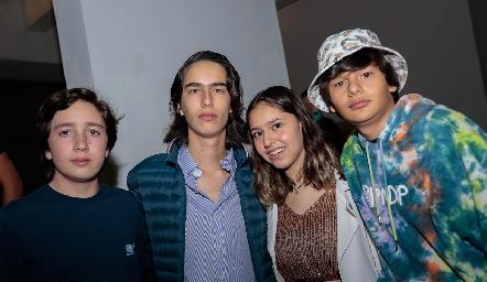 Luis Rico, César Morales, Aranza Yáñez y Teo Zacarías.