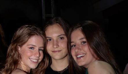 Alejandra Suárez, Aranza Yáñez y Anna Astrid Delgado.
