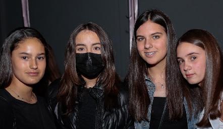 Macarena Fernández, Majo Martínez, María Galán y Ana Rivera.