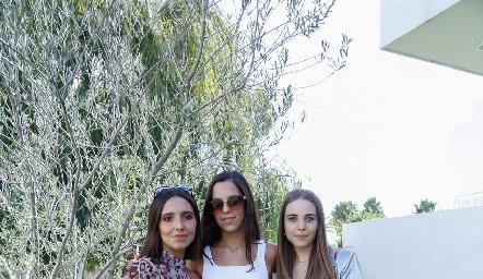 Valentina Nava, Ximena Delsol y Joaquina Morales.