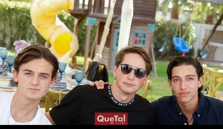 Pato Sarquis, Manuel Toledo y Juan Pablo Dip.