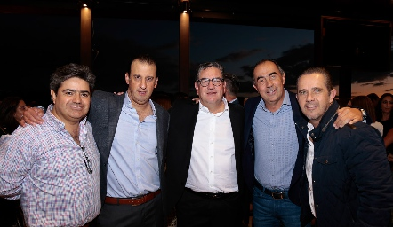 Paco Leos, Rodolfo Oliva, Jacobo Payán, Fernando López y Piri Espinosa.