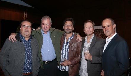 Juan José Leos, Juan Hernández, Mario Macías, Federico García y Gildo Gutiérrez.