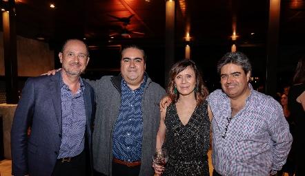 Manuel Toledo, Juan José Leos, Ana Toledo y Paco Leos.