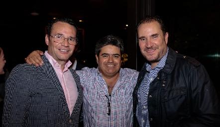 Xavier Nava, Paco Leos y Luis Nava.