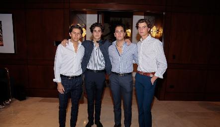 Patricio Ojeda, Francisco Leos, Roberto Silva y Juan Carlos Hernández.