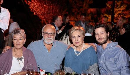 Mary Carmen Gutiérrez, Juan Carlos Fernández, Lourdes Aguiñaga y Rodrigo Martínez Toledo.