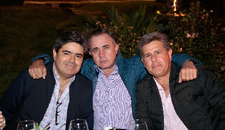 Francisco Leos, Javier Alcalde y Galo Galván.