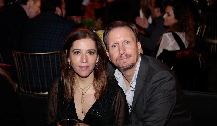 Daniela Calderón y Federico García.