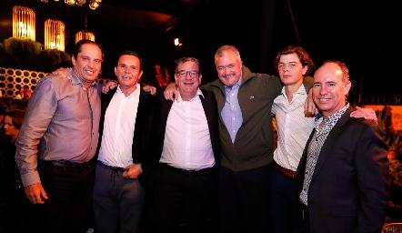 Jorge Morales, Pepe Tanus, Jacobo Payán, Juan Hernández, Juan Carlos Hernández y Pablo Díaz.