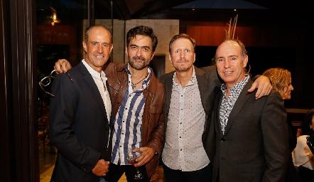 Gildo Gutiérrez, Mario Macías, Federico García y Pablo Díaz del Castillo.