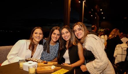 Carola García, María Emilia Cohen, Marijó Ortiz y Andrea Herrera.