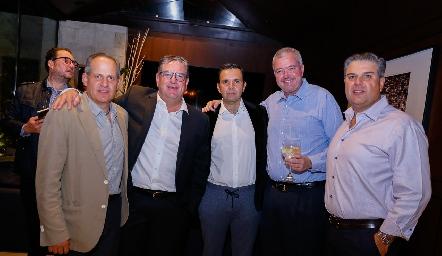 Ramón Gómez, Jacobo Payán, Pepe Tanus, Juan Hernández y Salomón Dip..