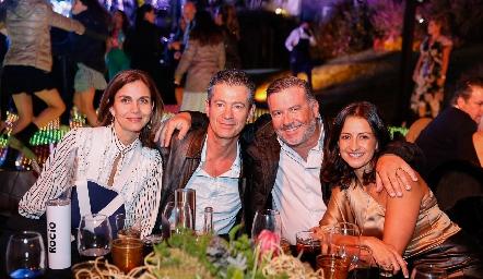 Rocío Nieto, Toño Mendizábal, Rodrigo Gómez y Mónica Galarza.